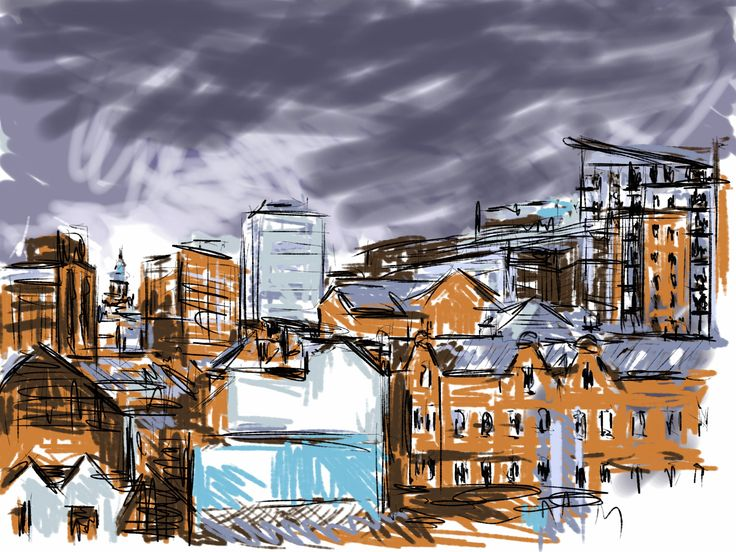 Sheffield Skyline from the Fat Cat