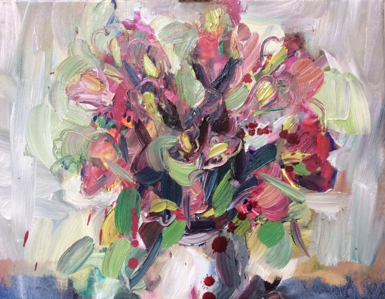 alstroemeria and roses