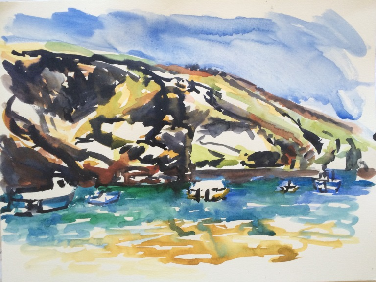 tide coming in at port isaac