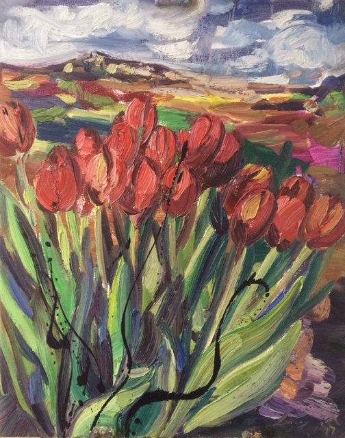 tulips-in-front-of-a-landscape-painting