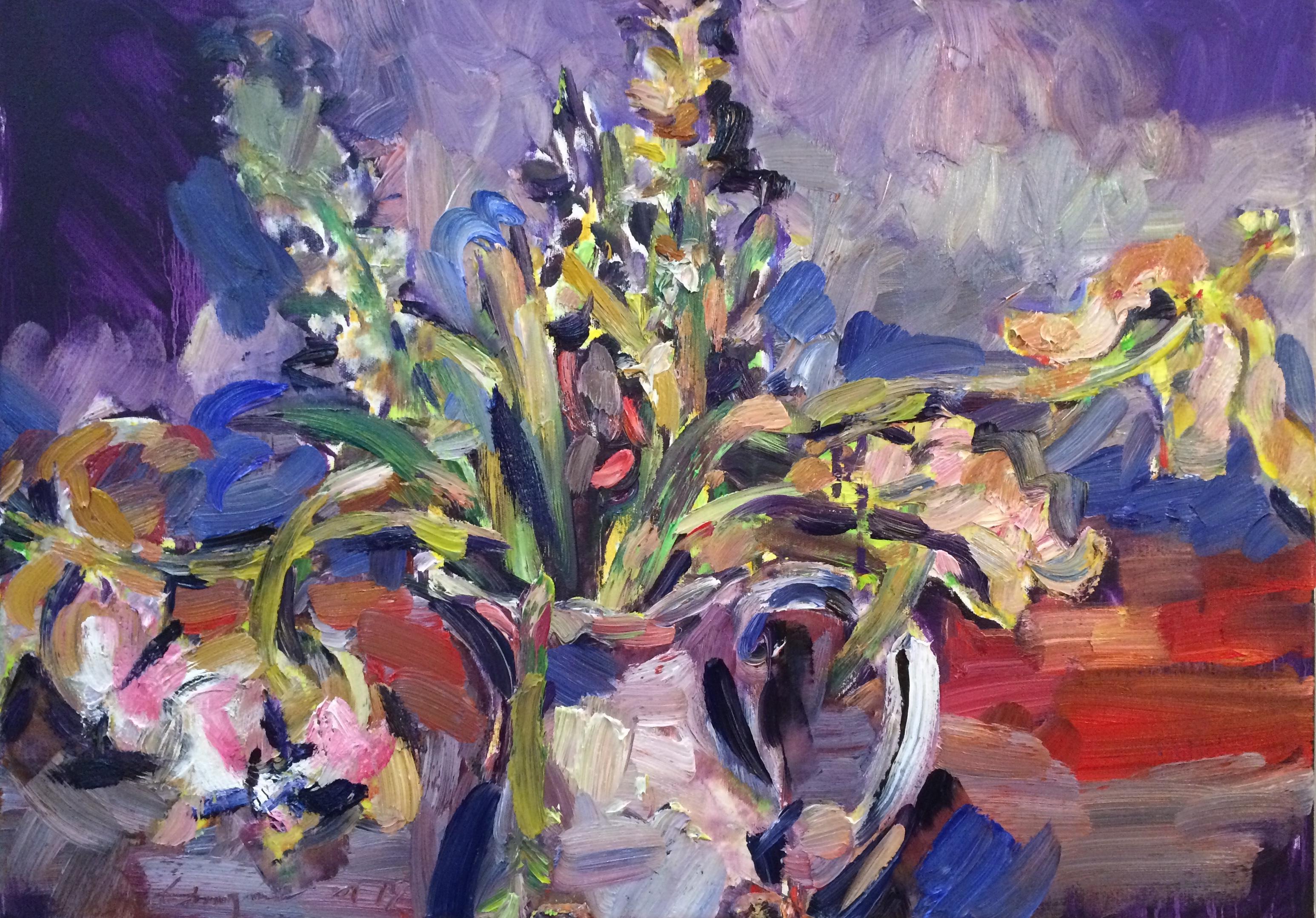 vase of flowers past their best